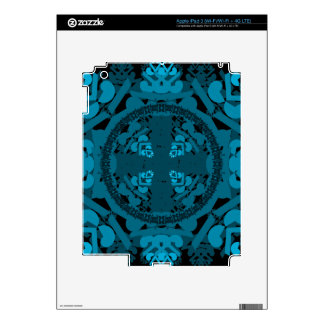 letter a-d-mirror-leaf-blue iPad 3 decal