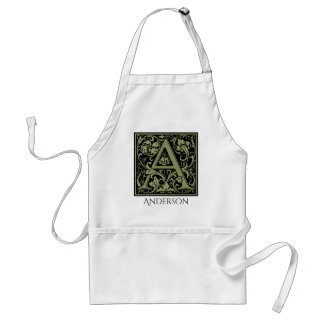 Letter A First Letter Monogram Personalized Adult Apron