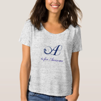 Letter A flourish awesome Shirt