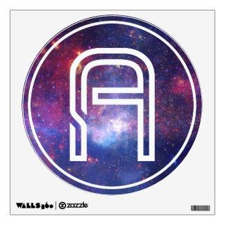 Letter A Galaxy Monogram Wall Sticker