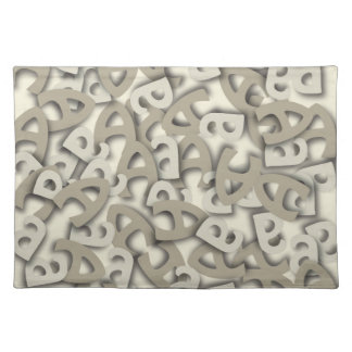 Letter A Gray Cloth Placemat