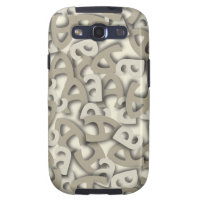 Letter A Gray Samsung Galaxy SIII Cover