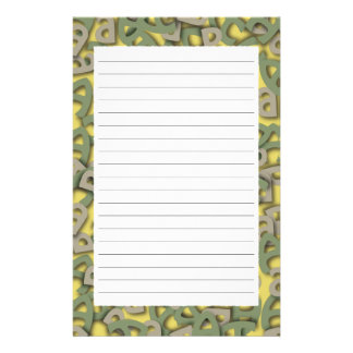 Letter A Green Stationery