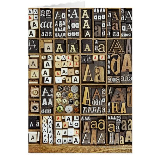 Letter A Greeting Card