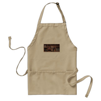 letter A in wood and metal type Adult Apron