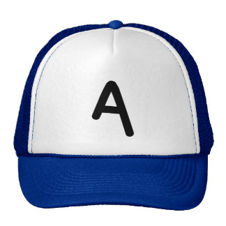 """Letter """"A"""" Initial Hat"""