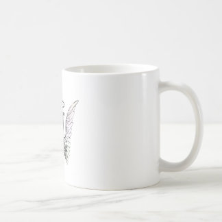 Letter A Initial Monogram with Angel Wings & Halo Coffee Mug