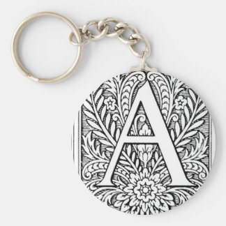Letter A key chain