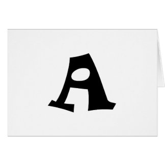 Letter A_large Cards