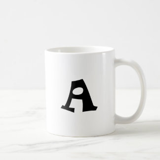 Letter A_large Classic White Coffee Mug