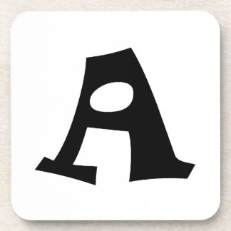 Letter A_large Beverage Coasters