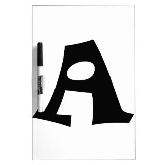 Letter A_large Dry Erase White Board