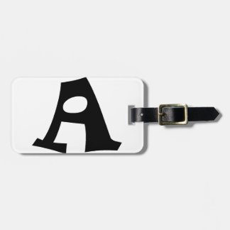 Letter A_large Luggage Tag