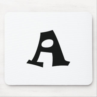 Letter A_large Mouse Pad