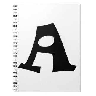 Letter A_large Spiral Note Books