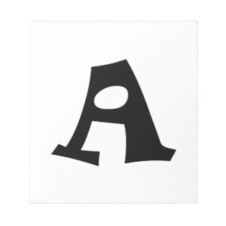 Letter A_large Note Pad