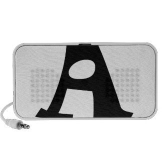 Letter A_large iPhone Speakers