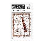 letter A Monogram apparel Stamps