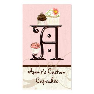 Letter A Monogram Dessert Bakery Business Cards