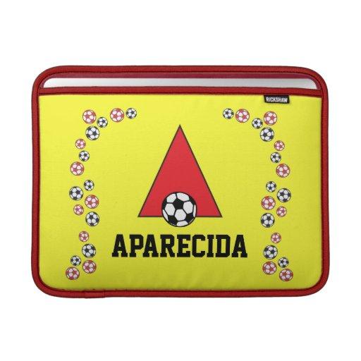 Letter A Monogram  in Soccer Red MacBook Air Sleeves