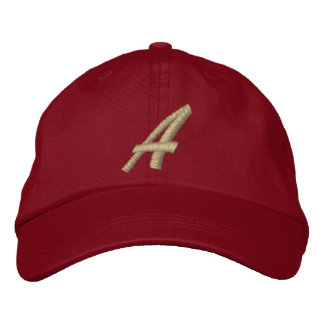 Letter A Monogram Initial Embroidered Embroidered Baseball Cap