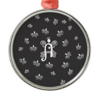 Letter A Monogram Initial Tiny Angels Christmas Ornaments