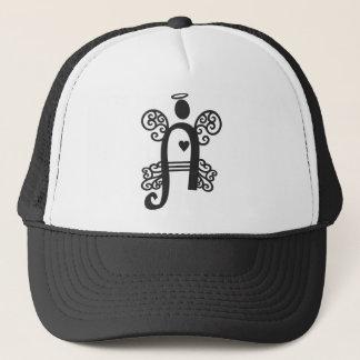 letter A monogram initial Trucker Hat