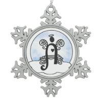 Letter A Monogram Ornaments