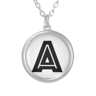 Letter A Monogram | Simple, Modern, Minimal Silver Plated Necklace