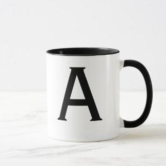 Letter A Mug-Copperplate Mug