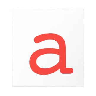Letter a notepad