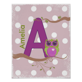 """Letter """"A"""" Personalized Poster"""