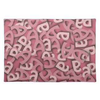 Letter A Pink Cloth Placemat