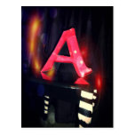 """Letter """"A"""" Postcard"""