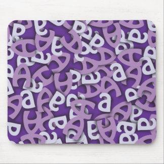 Letter A Purple Mouse Pad
