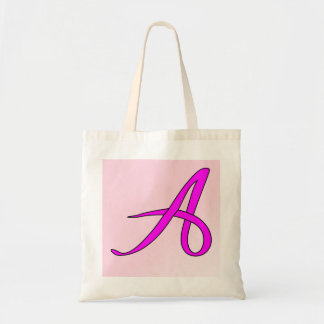 Letter A ribbon Tote Bag
