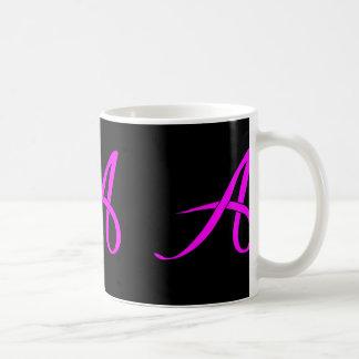 Letter A ribbon Mug