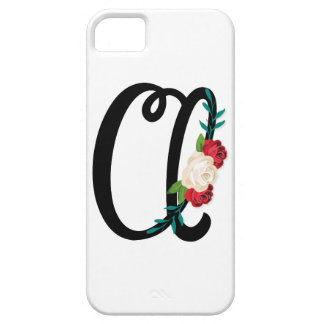 Letter A with vintage floral design and attractive iPhone SE/5/5s Case