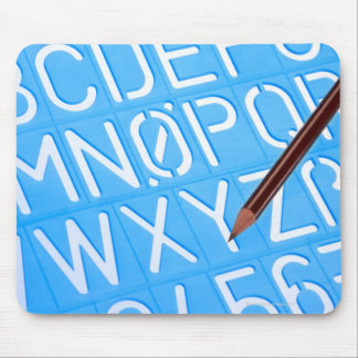 Letter and number template mouse pad