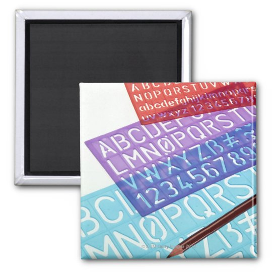 Letter and number templates magnet