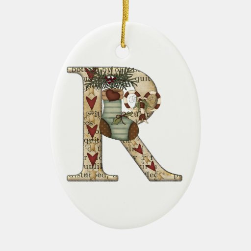 letter art r christmas stocking ornament zazzle With stocking letter ornaments