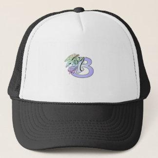 Letter B angel monogram alphabet initial light blu Trucker Hat
