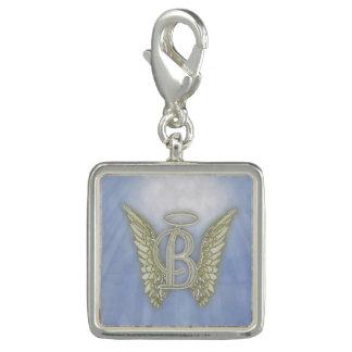 Letter B Angel Monogram Charm