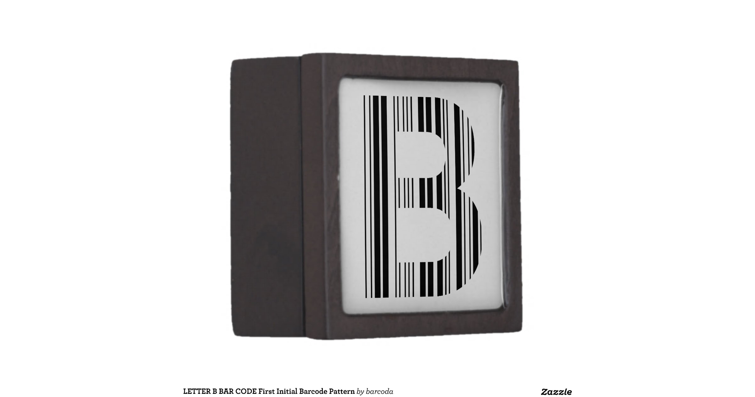 LETTER B BAR CODE First Initial Barcode Pattern Premium