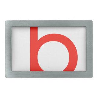 Letter b belt buckle