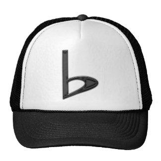 Letter b Black on Transparent Background Trucker Hat
