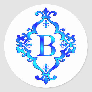 Letter B Blue Stickers