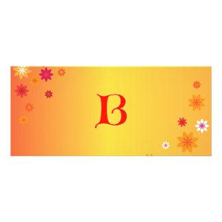 Letter B Book Mark Rack Card Template