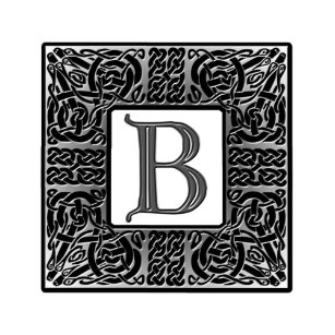Letter B Monogram Invitations Stationery Zazzle