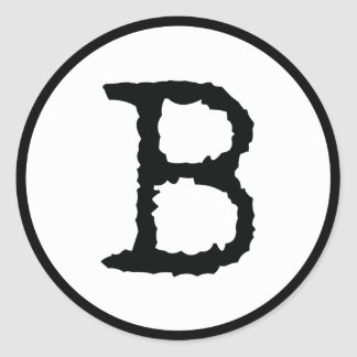 Letter B Classic Round Sticker